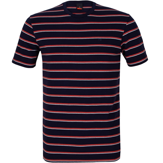 Stripe Crew Neck T-Shirt-new online-Fifth Avenue Menswear