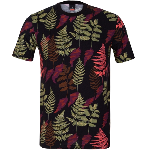 Leaves Print T-Shirt-new online-Fifth Avenue Menswear