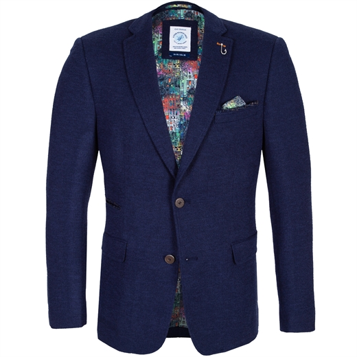 Structure Stretch Knit Blazer-new online-Fifth Avenue Menswear