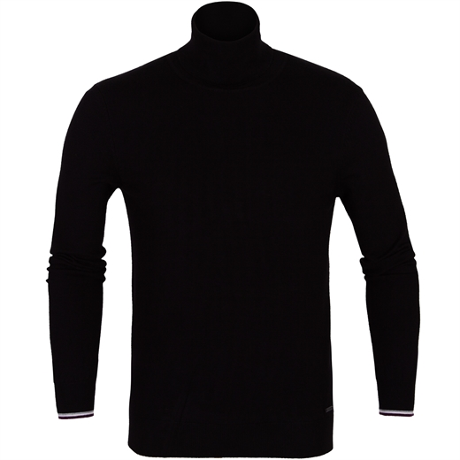 Roll Neck Pullover With Cuff Trim-new online-Fifth Avenue Menswear
