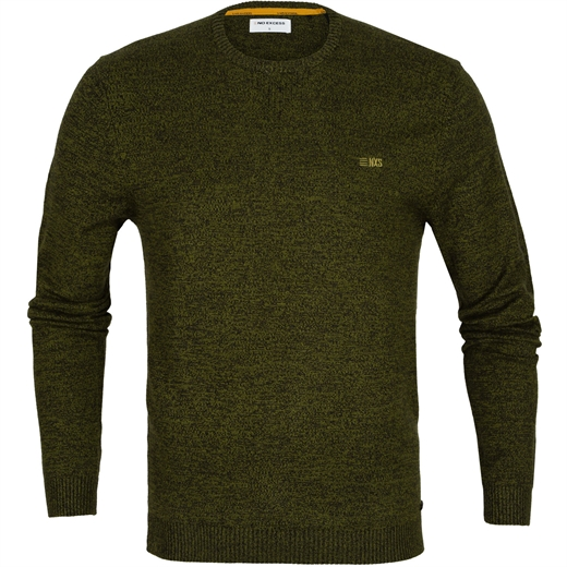 Twisted Yarn Knit Crew Neck Pullover-new online-Fifth Avenue Menswear