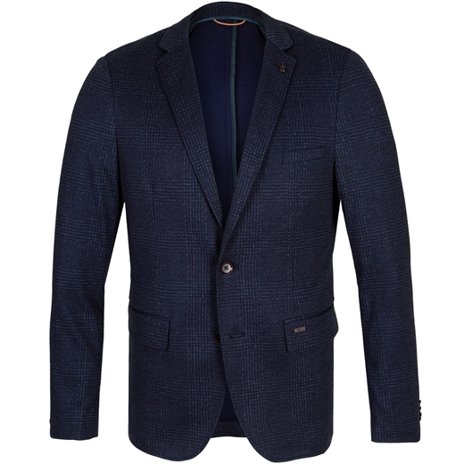 Slim Fit Tweed Check Jersey Print Blazer-new online-Fifth Avenue Menswear