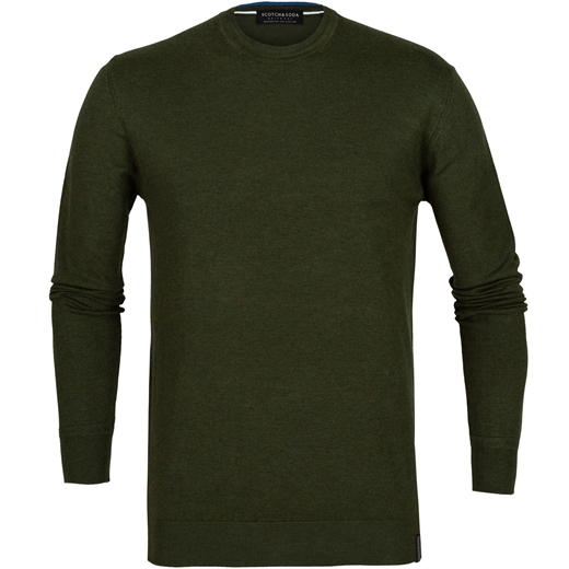 Melange Knit Crew Neck Pullover-new online-Fifth Avenue Menswear