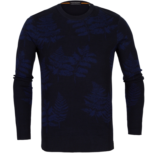 Jacquard Leaves Pattern Pullover-new online-Fifth Avenue Menswear