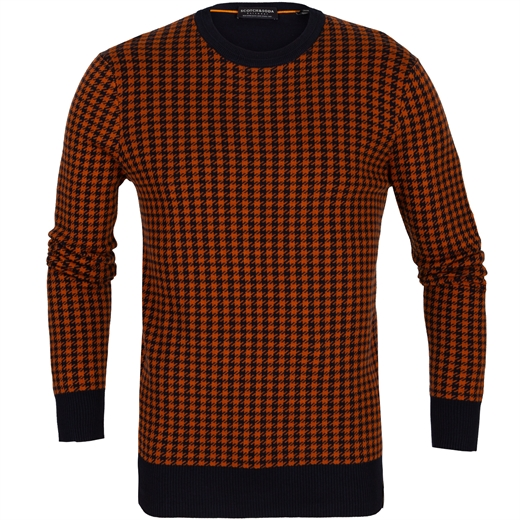 Houndstooth Pattern Pullover-new online-Fifth Avenue Menswear