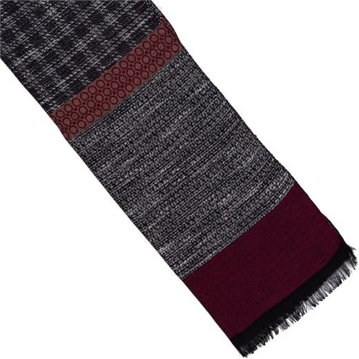 Textured Tonal Weave Cotton Blend Scarf-new online-Fifth Avenue Menswear