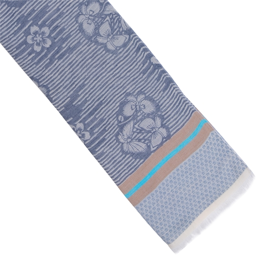 Floral & Waves Cotton Blend Scarf-new online-Fifth Avenue Menswear