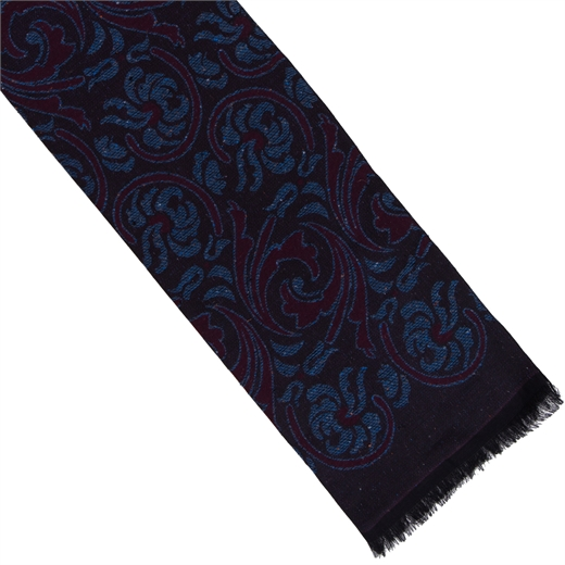 Paisley Cotton Blend Scarf-holiday-Fifth Avenue Menswear
