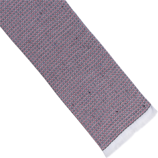 Textured Check Cotton Blend Scarf-new online-Fifth Avenue Menswear