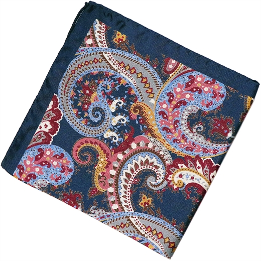 Paisley Pattern Silk Pocket Square-new online-Fifth Avenue Menswear