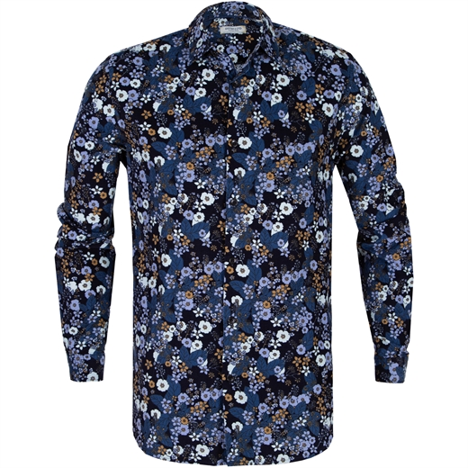 Floral Print Babycord Casual Shirt-new online-Fifth Avenue Menswear
