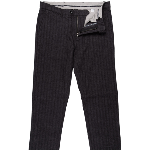 Brushed Stretch Cotton Herringbone Casual Trouser-new online-Fifth Avenue Menswear