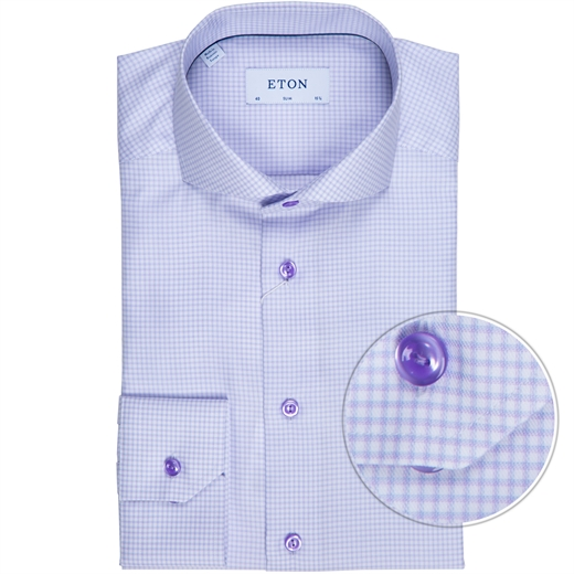 Slim Fit Small Windowpane Check Dress Shirt-new online-Fifth Avenue Menswear