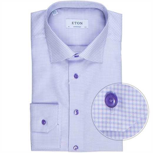 Contemporary Fit Small Windowpane Check Dress Shirt-new online-Fifth Avenue Menswear