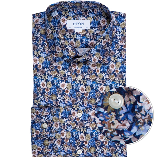 Contemporary Fit Floral Print Twilll Dress Shirt-new online-Fifth Avenue Menswear
