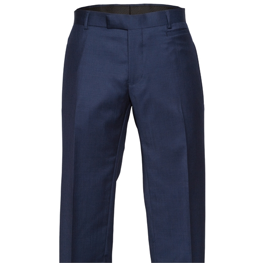 Rebellion Navy Blue Dress Trouser-trousers-Fifth Avenue Menswear