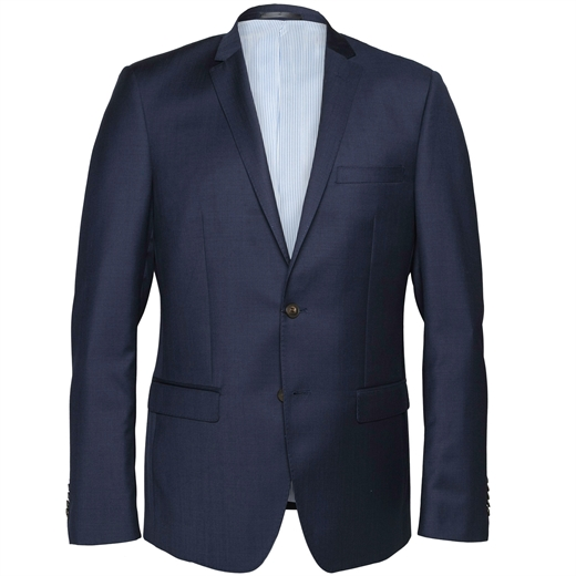 Delerium Navy Blue Suit Jacket-jackets-Fifth Avenue Menswear