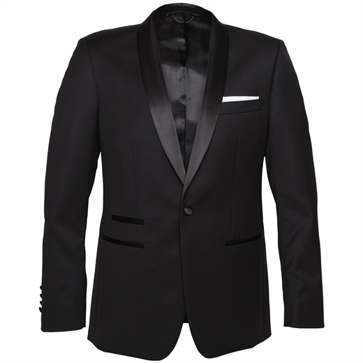 Riviera Black Dinner Suit Jacket-suits-Fifth Avenue Menswear