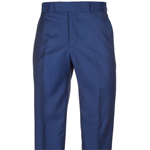 Astor Cobalt Blue Wool Suit Trouser-trousers-Fifth Avenue Menswear